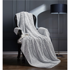 Regal Comfort Faux Fur Lux Throw- Silver Fox