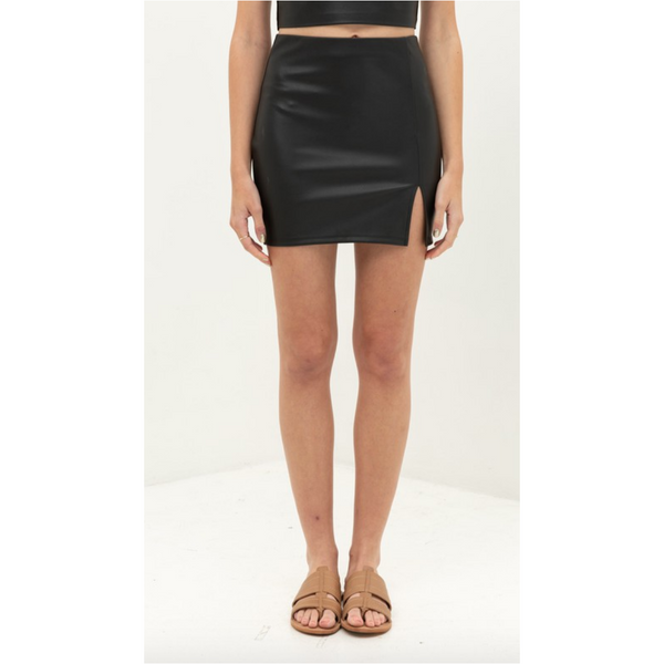 Cameron Leather Skirt