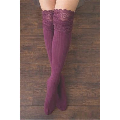 Simply Noelle Tall Lace Sock