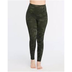 Spanx Look At Me Now Leggings in Green Camo