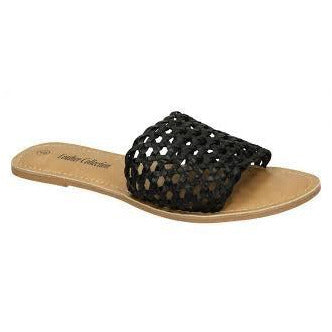 Tangled Web Sandals in Black