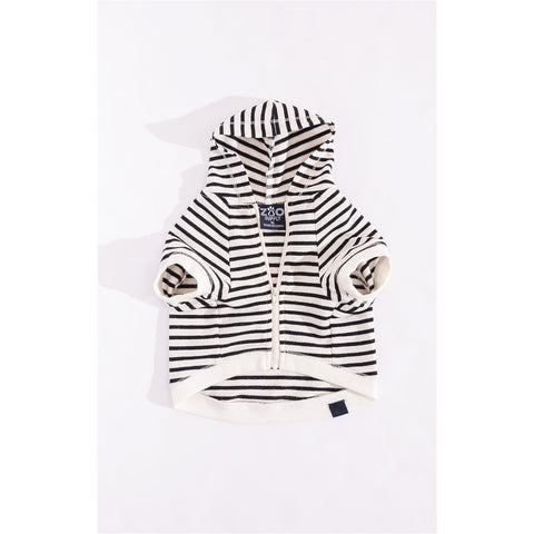 Zoo Supply The Striped Zip Hoodie