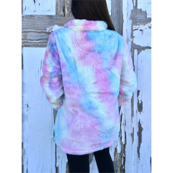 Cotton Candy Sherpa Pullover
