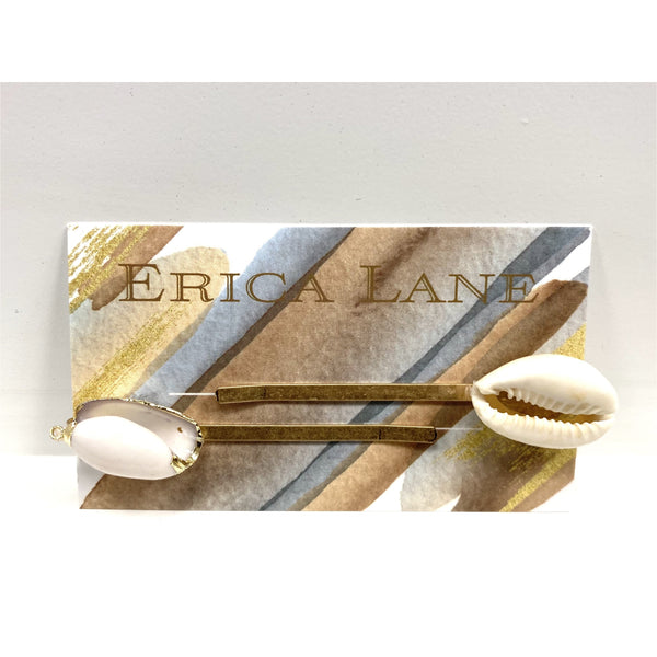 Erica Lane Puka Shell Hair Pins