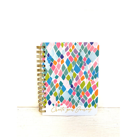 Mini Spiral Notebook in Confetti Catwalk
