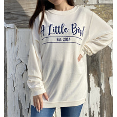 Little Bird Boutique Logo Corduroy Sweatshirts