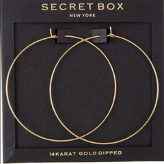 Secret Box Gold Dipped Hoop