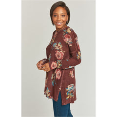 Show Me Your Mumu Chocolate & Roses Bonfire Sweater