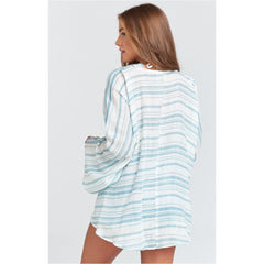 Show Me Your Mumu Felicity Flutter Top-Point Dume Stripe