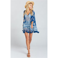 Show Me Your Mumu Shook Tassel Tunic-Bohemian Babe