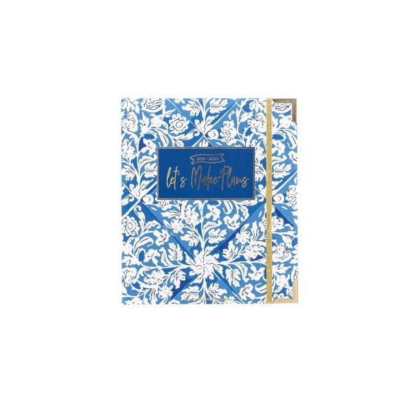 2019-2020 Blue Floral Small 17 Month Planner