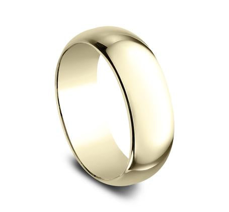 Benchmark Yellow Gold 8mm Ring SKU 180Y
