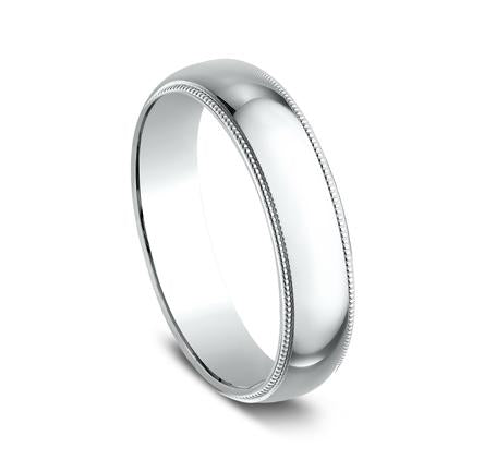 Benchmark White Gold 5mm Ring SKU 350W