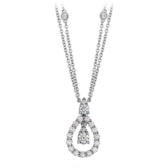 Aerial Diamond Drop Necklace style AerDiaDrN