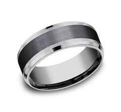 Ammara Stone Black Titanium 8mm Ring SKU CF368010BKT