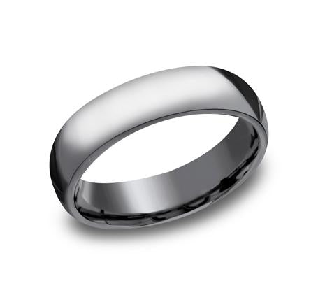 Benchmark White Gold 6mm Ring SKU HDCF160W