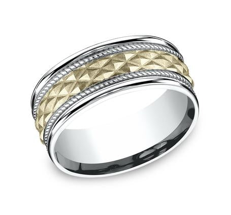 Benchmark Multi-Gold 8mm Ring SKU CF178040