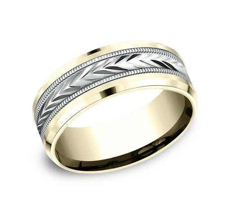 Benchmark Yellow Gold 6mm Ring SKU RECF7603Y