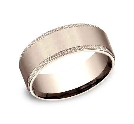Benchmark Rose Gold 8mm Ring SKU CF188749R