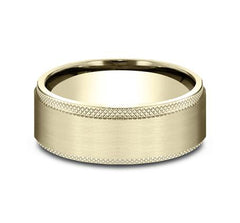 Benchmark Yellow Gold 8mm Ring SKU CF188749Y