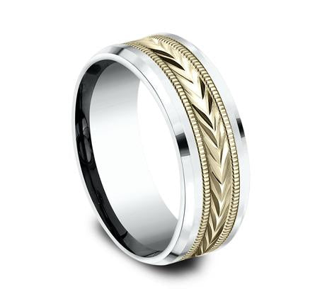 Benchmark Multi-Gold 8mm Ring SKU CF208003