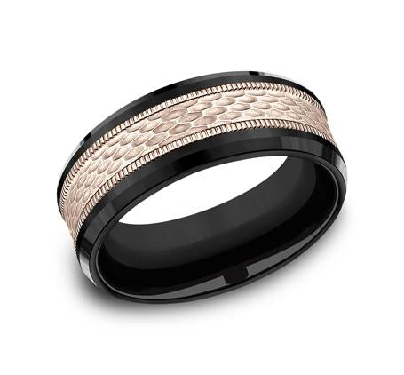 Ammara Stone Multi-Material 8mm Ring SKU CF398497BKTR