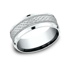 Ammara Stone Black Titanium 8mm Ring SKU CF368497BKT