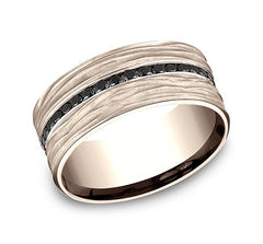 Ammara Stone Rose Gold 9mm Black Diamond Ring SKU CF489692R
