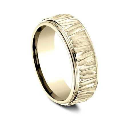 Ammara Stone Yellow Gold 7mm Ring SKU CF497671Y