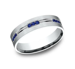Benchmark Palladium 6mm Sapphire Ring SKU CF526535PD
