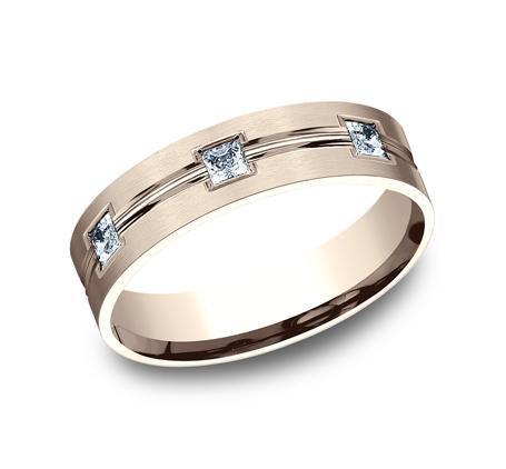 Benchmark Rose Gold 6mm Diamond Ring SKU CF526828R