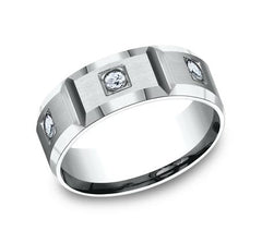 Benchmark Palladium 8mm Diamond Ring SKU CF528159PD