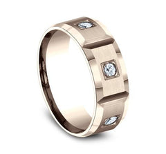 Benchmark Rose Gold 8mm Diamond Ring SKU CF528159R