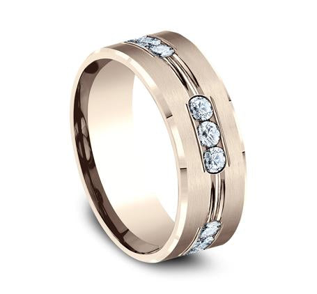 Benchmark Rose Gold 8mm Diamond Ring SKU CF528533R
