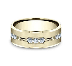 Benchmark Yellow Gold 8mm Diamond Ring SKU CF528533Y