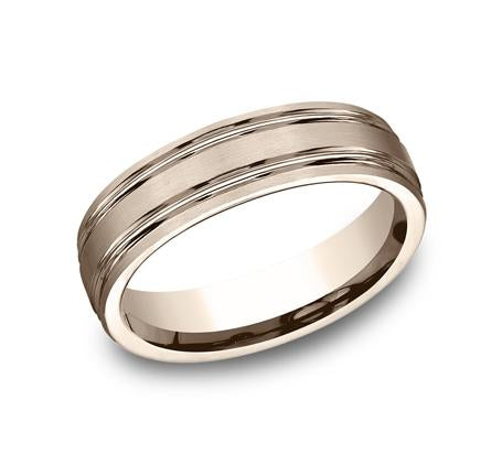 Benchmark Rose Gold 6mm Ring SKU CF56444R