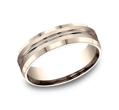 Benchmark Rose Gold 6mm Ring SKU CF66439R