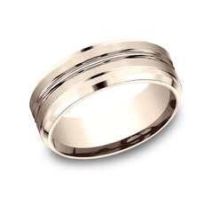 Benchmark Rose Gold 8mm Ring SKU CF68484R