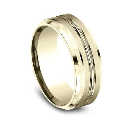 Benchmark Yellow Gold 8mm Ring SKU CF68484Y