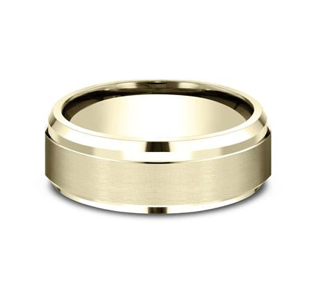 Benchmark Yellow Gold 8mm Ring SKU CF68486Y