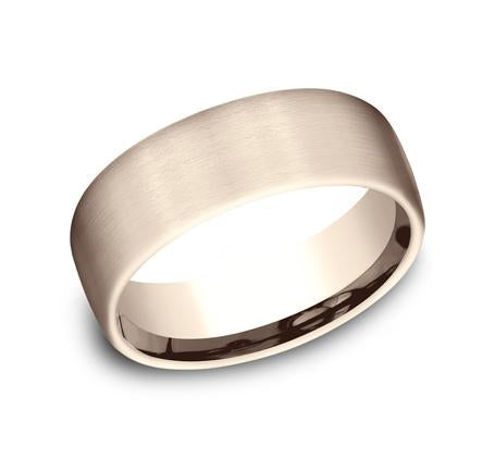 Benchmark Rose Gold 7.5mm Ring SKU CF717561R