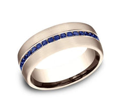 Benchmark White Gold 7.5mm Sapphire Ring SKU CF717574W