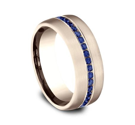 Benchmark Rose Gold 7.5mm Sapphire Ring SKU CF717574R