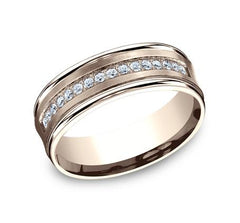 Benchmark Rose Gold 7.5mm Diamond Ring SKU CF717593R