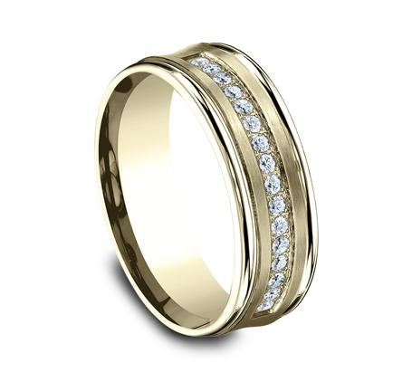Benchmark Yellow Gold 7.5mm Diamond Ring SKU CF717593Y