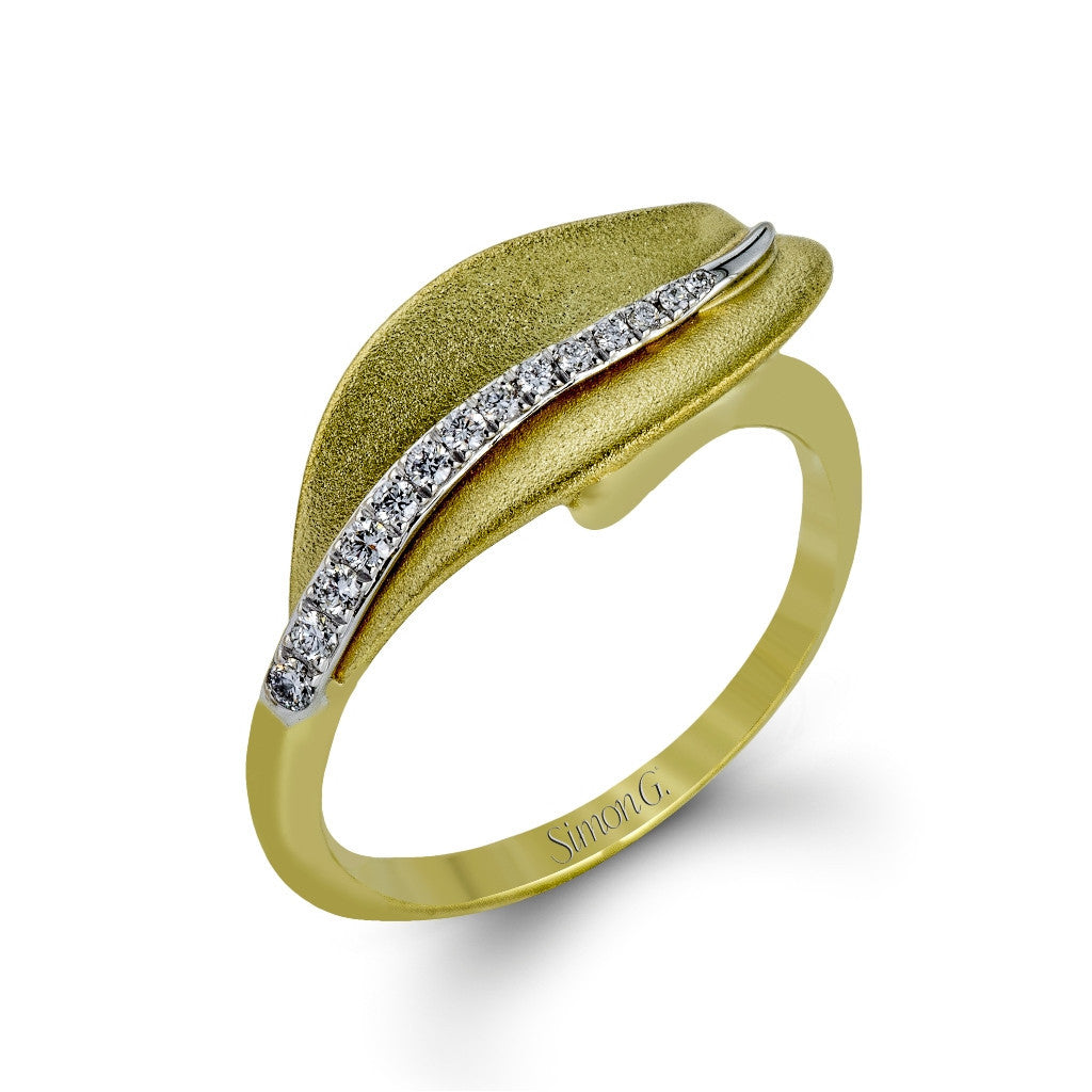 Simon G Contemporary Ring - #DR246-Y - Garden Collection