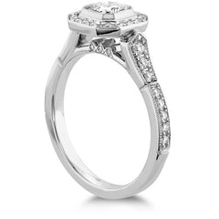 Deco Chic DRM Halo Engagement Ring