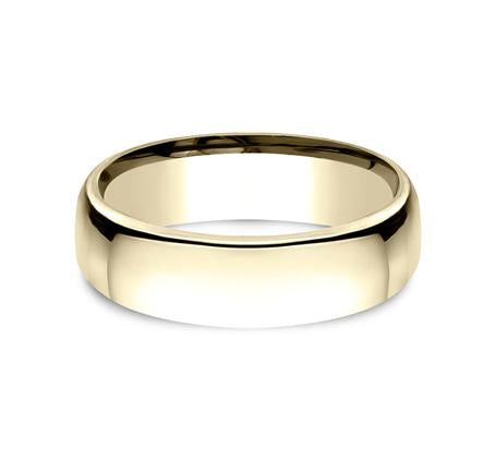 Benchmark Yellow Gold 6.5mm Ring SKU EUCF165Y