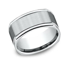 Benchmark White Gold 7mm Ring SKU EURECF7702SW
