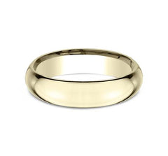 Benchmark Yellow Gold 5mm Ring SKU HDCF150Y